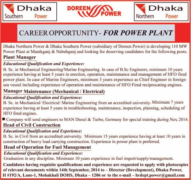 Doreen power job circular