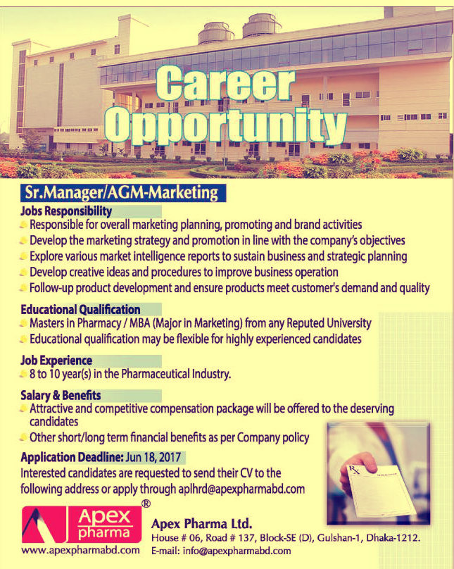 apex pharma job